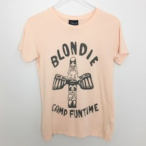 Blondie Camp Funtime Peach Pink Graphic T-Shirt